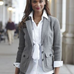 Cabi Half and Half Sweater Jacket Blazer #119